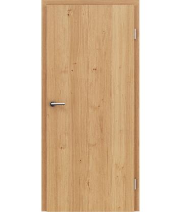 Furnirana notranja vrata s pokončno strukturo GREENline - hrast grča natur lakiran