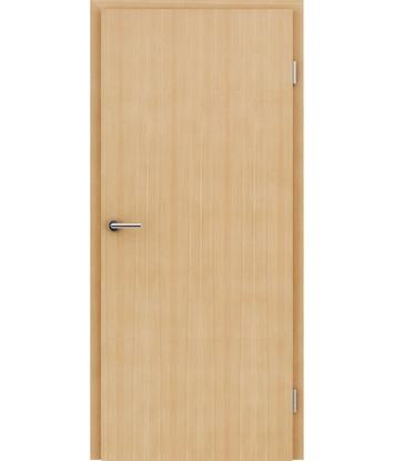 Furnirana notranja vrata s pokončno strukturo GREENline - macesen krtačen mat lužen lakiran