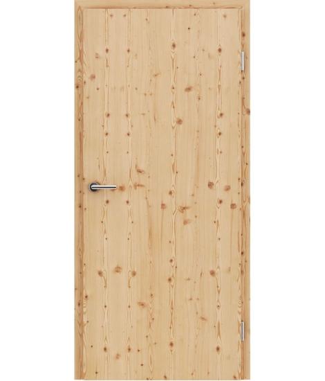 Dýhované interiérové dveře s vertikální strukturo GREENline - modřín sukatý kartáčovaný mat louhovaný lakovaný