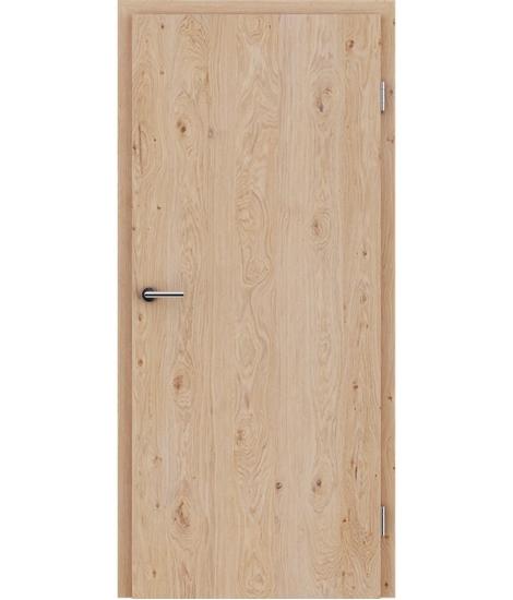 Dýhované interiérové dveře s vertikální strukturo GREENline - dub sukatý bíle olejovaný