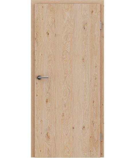 Dýhované interiérové dveře s vertikální strukturo GREENline - dub sukatý kartáčovaný bíle olejovaný