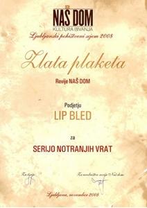 Picture of Zlatá plaketa časopisu NAŠ DOM - kultura bydlení