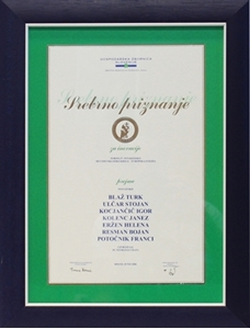 Picture of GZS - Stříbrná cena za nej inovaci Goreňska 2006