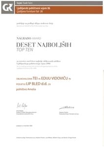 Picture of 3 ocenění za program nábytku z masivního dřeva AMELIA 2006