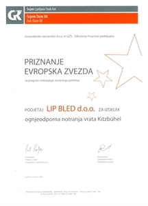 Picture of 1. cena Evropská hvězda 2008 za dveře Kitzbühl