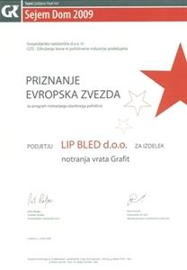 Picture of 1. cena Evropská hvězda 2009 - multifunkční křídlo a zárubně javor Grafit