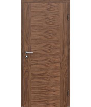 Dýhované interiérové dveře s vertikální a/nebo horizontální strukturou VIVACEline - F1 ořech