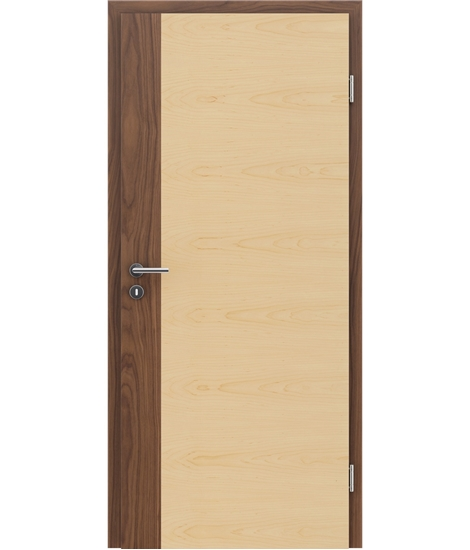 Dýhované interiérové dveře s vertikální a/nebo horizontální strukturou VIVACEline - F5 ořech intarzie javor