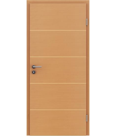 Dýhované interiérové dveře s vertikální a/nebo horizontální strukturou VIVACEline - F11 buk intarzie javor