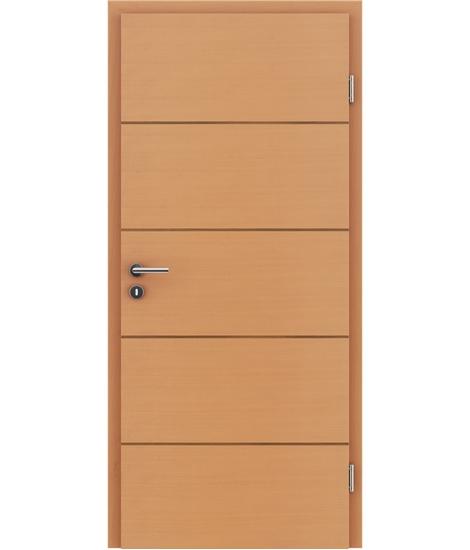 Dýhované interiérové dveře s vertikální a/nebo horizontální strukturou VIVACEline - F11 buk intarzie ořech