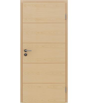 Dýhované interiérové dveře s vertikální a/nebo horizontální strukturou VIVACEline - F11 javor intarzie buk