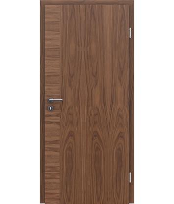 Dýhované interiérové dveře s vertikální a/nebo horizontální strukturou VIVACEline - F12 ořech