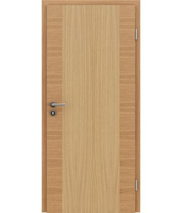 furnirana notranja vrata s kombinirano pokončno in prečno strukturo VIVACEline - F14 hrast evropski natur lakiran
