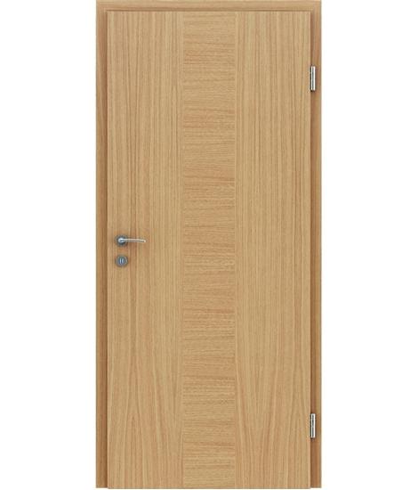 Dýhované interiérové dveře s vertikální a/nebo horizontální strukturou VIVACEline - F40 dub intarzie dub