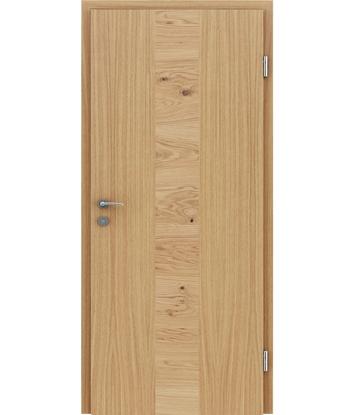 Dýhované interiérové dveře s vertikální a/nebo horizontální strukturou VIVACEline - F40 dub intarzie dub sukatý