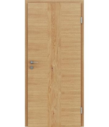 furnirana notranja vrata s kombinirano pokončno in prečno strukturo VIVACEline - F41 hrast vstavek hrast grča