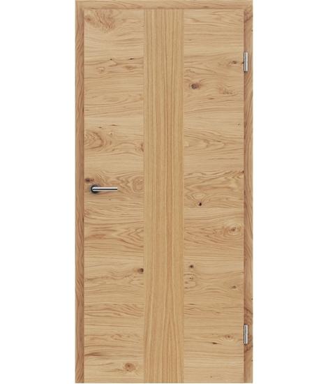 Dýhované interiérové dveře s vertikální a/nebo horizontální strukturou VIVACEline - F41 dub sukatý intarzie dub