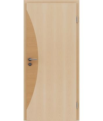 Dýhované interiérové dveře s intarziemi HIGHline - I3 javor, intarzie olše