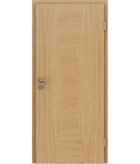 Dýhované interiérové dveře s intarziemi HIGHline - I35 dub evropský intarzie dub evropský