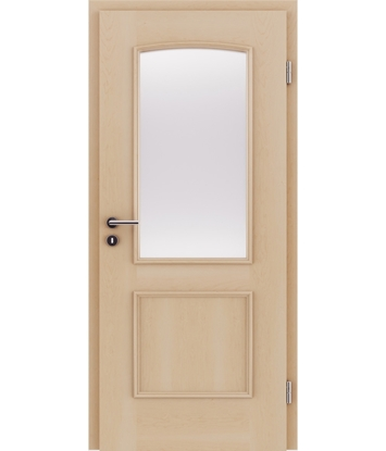 Picture of Dýhované interiérové dveře s okrasnými lištami a sklo STILline - SOA SO3 javor