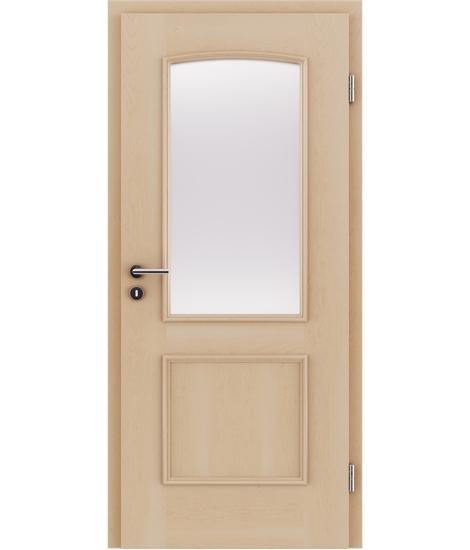 Dýhované interiérové dveře s okrasnými lištami a sklo STILline - SOA SO3 javor