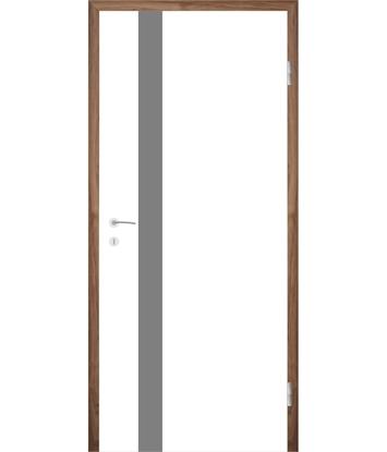 Picture of Bíle lakované interiérové dveře s drážkami COLORline - MODENA + R25L