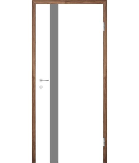 Bíle lakované interiérové dveře s drážkami COLORline - MODENA + R25L