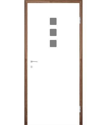 Picture of Bíle lakované interiérové dveře s drážkami COLORline - MODENA + R26L