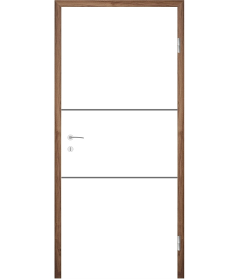 Bíle lakované interiérové dveře s drážkami COLORline - MODENA R11L