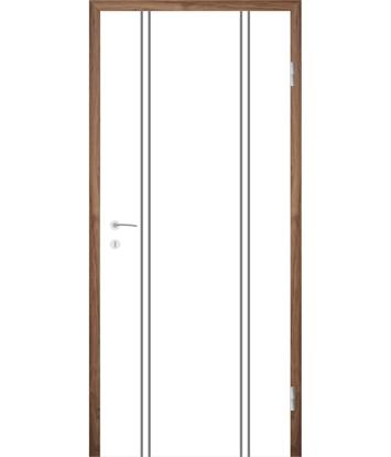 Picture of Bíle lakované interiérové dveře s drážkami COLORline - MODENA R12L