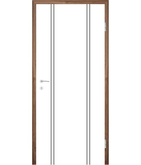Bíle lakované interiérové dveře s drážkami COLORline - MODENA R12L