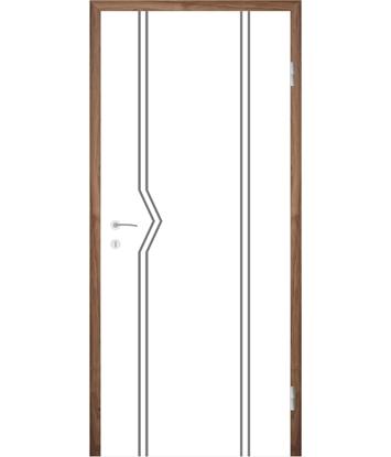 Picture of Bíle lakované interiérové dveře s drážkami COLORline - MODENA R13L