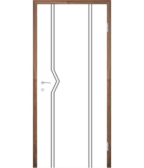 Bíle lakované interiérové dveře s drážkami COLORline - MODENA R13L
