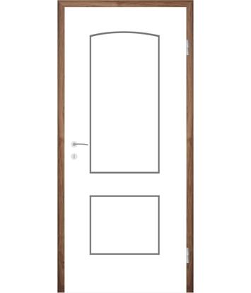 Picture of Bíle lakované interiérové dveře s drážkami COLORline - MODENA R14L