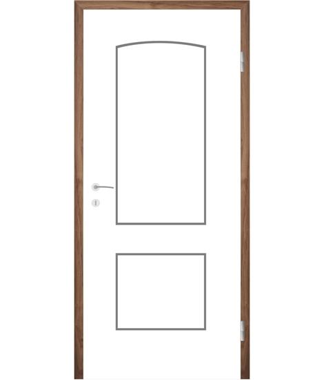 Bíle lakované interiérové dveře s drážkami COLORline - MODENA R14L
