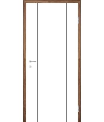 Bíle lakované interiérové dveře s drážkami COLORline - MODENA R15L