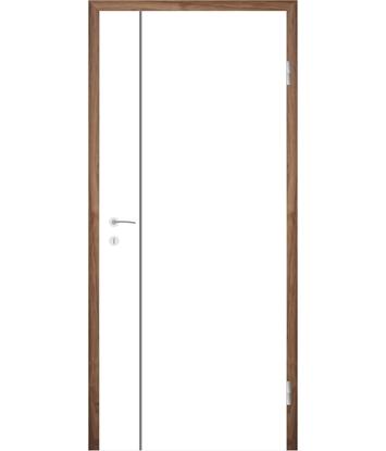 Picture of Bíle lakované interiérové dveře s drážkami COLORline - MODENA R16L