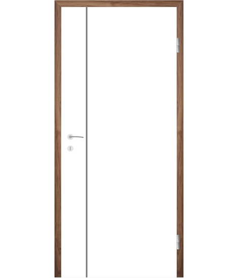 Bíle lakované interiérové dveře s drážkami COLORline - MODENA R16L