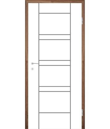 Picture of Bíle lakované interiérové dveře s drážkami COLORline - MODENA R18L