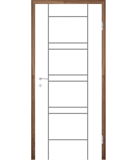 Bíle lakované interiérové dveře s drážkami COLORline - MODENA R18L