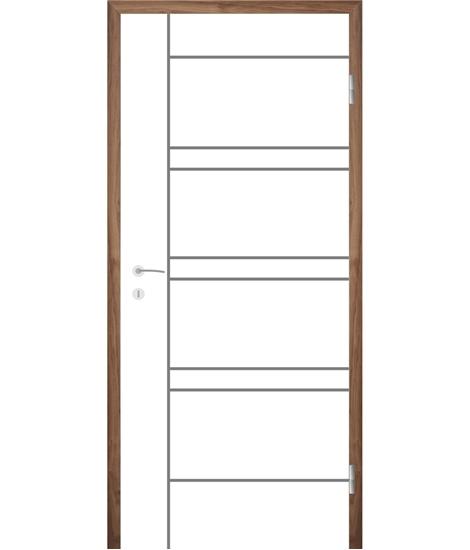 Bíle lakované interiérové dveře s drážkami COLORline - MODENA R19L