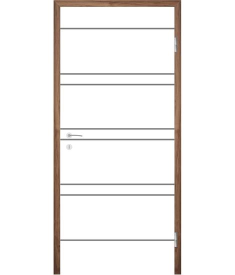 Bíle lakované interiérové dveře s drážkami COLORline - MODENA R20L