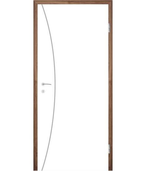 Bíle lakované interiérové dveře s drážkami COLORline - MODENA R21L