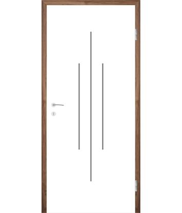Picture of Bíle lakované interiérové dveře s drážkami COLORline - MODENA R22L