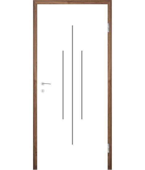 Bíle lakované interiérové dveře s drážkami COLORline - MODENA R22L