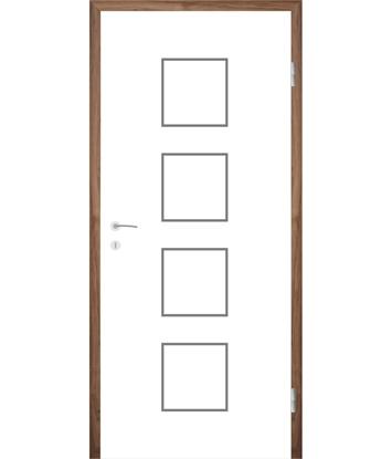 Picture of Bíle lakované interiérové dveře s drážkami COLORline - MODENA R23L