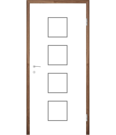Bíle lakované interiérové dveře s drážkami COLORline - MODENA R23L