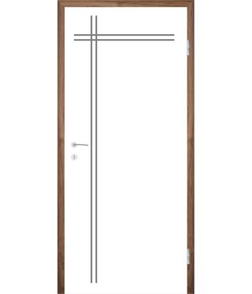 Bíle lakované interiérové dveře s drážkami COLORline - MODENA R24L