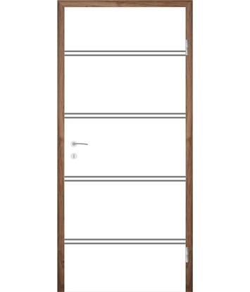 Picture of Bíle lakované interiérové dveře s drážkami COLORline - MODENA R35L