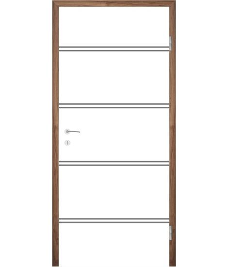 Bíle lakované interiérové dveře s drážkami COLORline - MODENA R35L